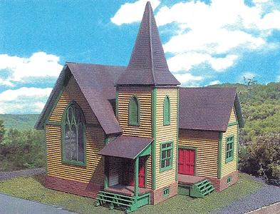 Branchline Laser Art Structure Kits Church HO Scale Model Railroad Building #642
