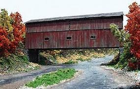 Branchline Shoreham Covered Bridge Laser Art Kit HO Scale Model Railroad Building #672