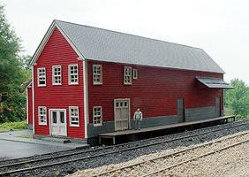 Branchline Meat Packing Plant Laser-Cut Wood Kit HO Scale Model Railroad Building #682
