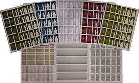 Branchline Window Treatment Sheets 8 Different Sheets (8) HO Scale Model Railroad Building Accessory #760