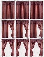 Window Treatment Sheets 8 Different Sheets O Scale Model Railroad Building Accessory #770