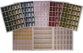 Branchline Window Treatment Sheets (8 Different Sheets) N Scale Model Railroad Building Accessory #780
