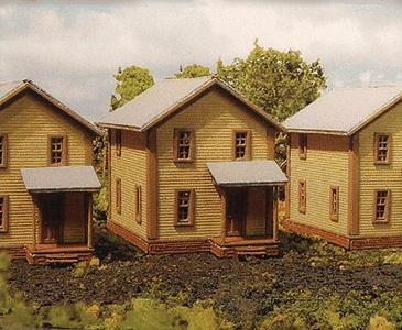 Branchline Company House #1 - Laser Art - pkg(3) N Scale Model Railroad Building #805