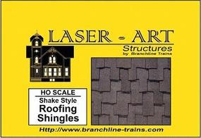 Branchline Shake Style Shingles Laser Art Sheet pkg(2) HO Scale Model Railroad Building Accessory #902