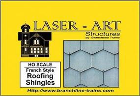Branchline Laser-Art Roofing Sheets French Style Shingle HO Scale Model Railroad Building Accessory #904