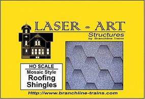 Branchline Laser-Art Roofing Sheets Mosaic Style Shingles HO Scale Model Railroad Building Accessory #905