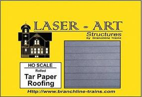 Branchline Rolled Tar Paper Laser Art Sheet pkg(2) HO Scale Model Railroad Building Accessory #906