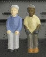 Broadway Engineer & Fireman Figure Sets Style A & B HO Scale Model Train Accessory #1004