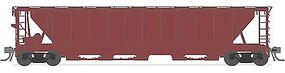 Broadway H32 5-Bay Covered Hopper 4-Pack Undecorated HO Scale Model Train Freight Car #1890
