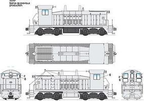 Broadway Paragon 2 EMD SW7 DCC Equipped Undecorated HO Scale Model Train Diesel Locomotive #2042