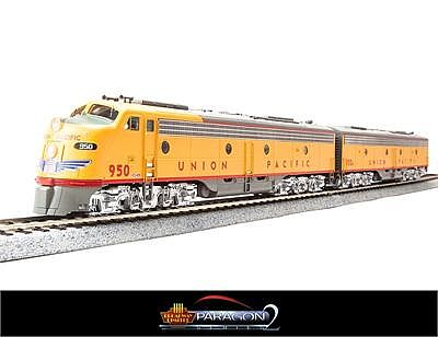 Broadway Limited Imports EMD E-9 A/B Set Union Pacific with sound -- HO Scale Model Train Diesel Locomotive -- #2351