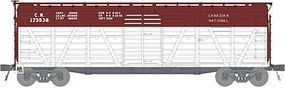 Broadway PRR K7 Stock Car Canadian National (Boxcar Red, white) HO Scale Model Train Freight Car #2534