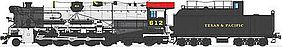 Broadway T&P 2-10-4 DCC Hybrid Texas & Pacific #624 HO Scale Model Train Steam Locomotive #2828