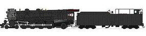 Broadway M1a 4-8-2 DCC Painted, Unlettered (black, graphite) N Scale Model Train Steam Locomotive #3075