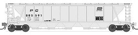 Broadway H32 5-Bay Covered Hopper Penn Central Set A N Scale Model Train Freight Car #3174