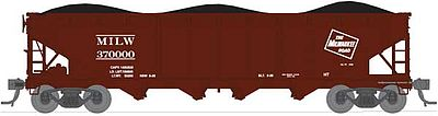 Broadway Limited Imports ARA/AAR 70-Ton 4-Bay Hopper Milwaukee Road Set C (6) -- N Scale Model Train Freight Car -- #3188