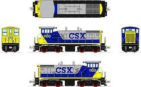 Broadway EMD SW1500 DCC CSX #1125 YN2, gray, blue, yellow HO Scale Model Train Diesel Locomotive #3337