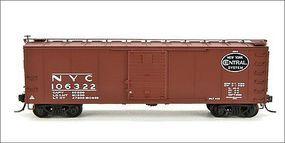 Broadway Steel Boxcar New York Central Gothic (4) N Scale Model Train Freight Car #3404