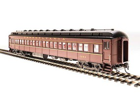 Broadway PRR Class P70 Heavyweight Coach, No Air Conditioning 4-Pack Ready to Run Pennsylvania Railroad (Tuscan, black, buff lettering) N-Scale