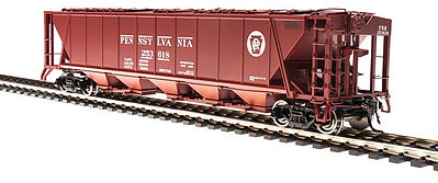 Broadway Limited Imports H32 Hopper Pennsylvania RR red #A (2) -- HO Scale Model Train Freight Car -- #4083