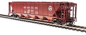 H32 Hopper Pennsylvania RR red #A (2) HO Scale Model Train Freight Car #4083