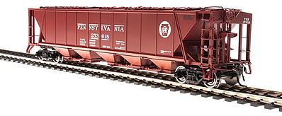 Broadway Limited Imports H32 Hopper Pennsylvania RR red #B (2) -- HO Scale Model Train Freight Car -- #4084