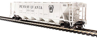 Broadway Limited Imports H32 Hopper Pennsylvania RR gray #A (2) -- HO Scale Model Train Freight Car -- #4086