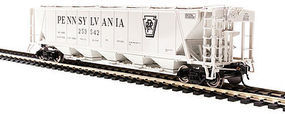 H32 Hopper Pennsylvania RR gray #A (2) HO Scale Model Train Freight Car #4086