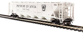 H32 Hopper Pennsylvania RR gray #B (2) HO Scale Model Train Freight Car #4087