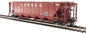 Broadway H32 Hopper Conrail Red (2) HO Scale Model Train Freight Car #4091