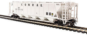 Broadway H32 Hopper Conrail Gray (2) HO Scale Model Train Freight Car #4092