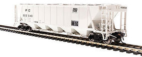 Broadway H32 Hopper Penn Central Gray (2) HO Scale Model Train Freight Car #4094