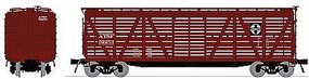 Broadway K7A Stock Car ATSF(4) HO Scale Model Train Freight Car #4130
