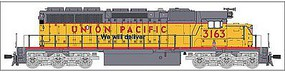 Broadway SD40-2 with Sound Union Pacific #3166 HO Scale Model Train Diesel Locomotive #4224