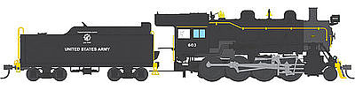 Broadway Limited Imports 2-8-0 with Sound US Army #603 -- HO Scale Model Train Steam Locomotive -- #4325