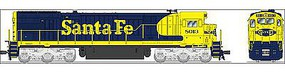 Broadway GE C30-7 ATSF #8013 with Sound HO Scale Model Train Diesel Locomotive #4400