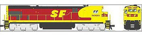 Broadway GE C30-7 ATSF #8079 with Sound HO Scale Model Train Diesel Locomotive #4403