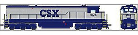 Broadway C30-7 with Sound CSX #7044 HO Scale Model Train Diesel Locomotive #4409