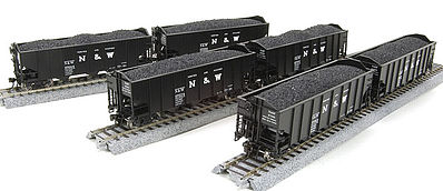 Broadway Limited Imports H2a Hopper Norfolk & Western 6 pack R -- HO Scale Model Train Freight Car -- #4442