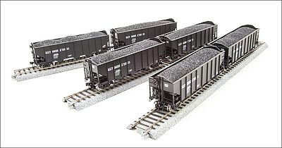 Broadway Limited Imports H2a Hopper Baltimore & Ohio 6 pack Q -- HO Scale Model Train Freight Car -- #4451