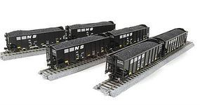 Broadway 3-bay Hopper Norfolk Southern (6 pack) HO Scale Model Train Freight Car #4456