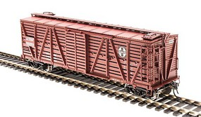 Broadway K7 Stock Car ATSF Cattle HO Scale Model Train Freight Car #4561