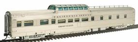 Broadway Paragon(TM) Series CZ Vista Dome Dorm-Buffet-Lounge Assembled, Lighted Western Pacific #831 ''Silver Chalet'' HO-Scale