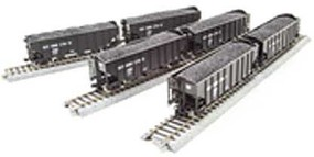 Broadway HO H2a 3-Bay Hopper, B&O Pack S (6)