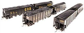 Broadway HO H2a 3-Bay Hopper, CSX/Black/Yellow Lettering(6)