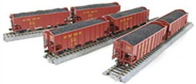 Broadway HO H2a 3-Bay Hopper, UP Red w/Yellow Lettering (6)