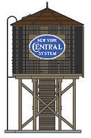 Broadway Op Water Tower NYC Weathered HO Scale Model Railroad Trackside Accessory #6093