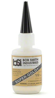 Bob-Smith Super-Gold+ Gap Filling CA Glue .5oz