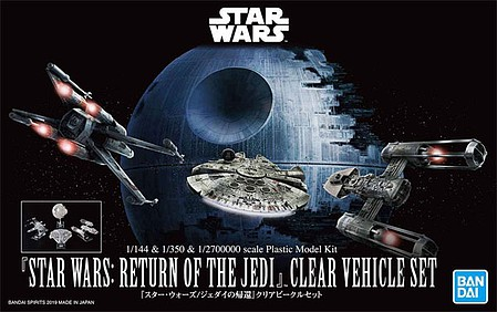 Bandai-Star-Wars Return Jedi Clear Vehicle Set