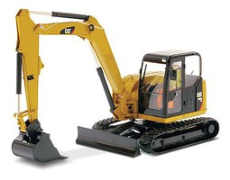 B2B-Replicas Caterpillar 308E2 CR SB Mini Hydraulic Excavator Yellow, Black - 1/50 Scale
